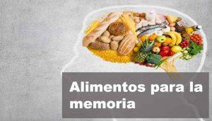 alimentacion para la memoria